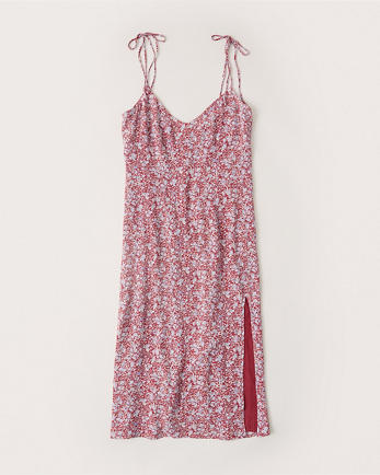 ANFTie-Shoulder Midi Dress