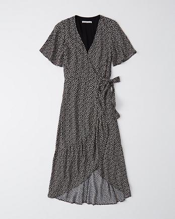 ANFWrap-Front Midi Dress