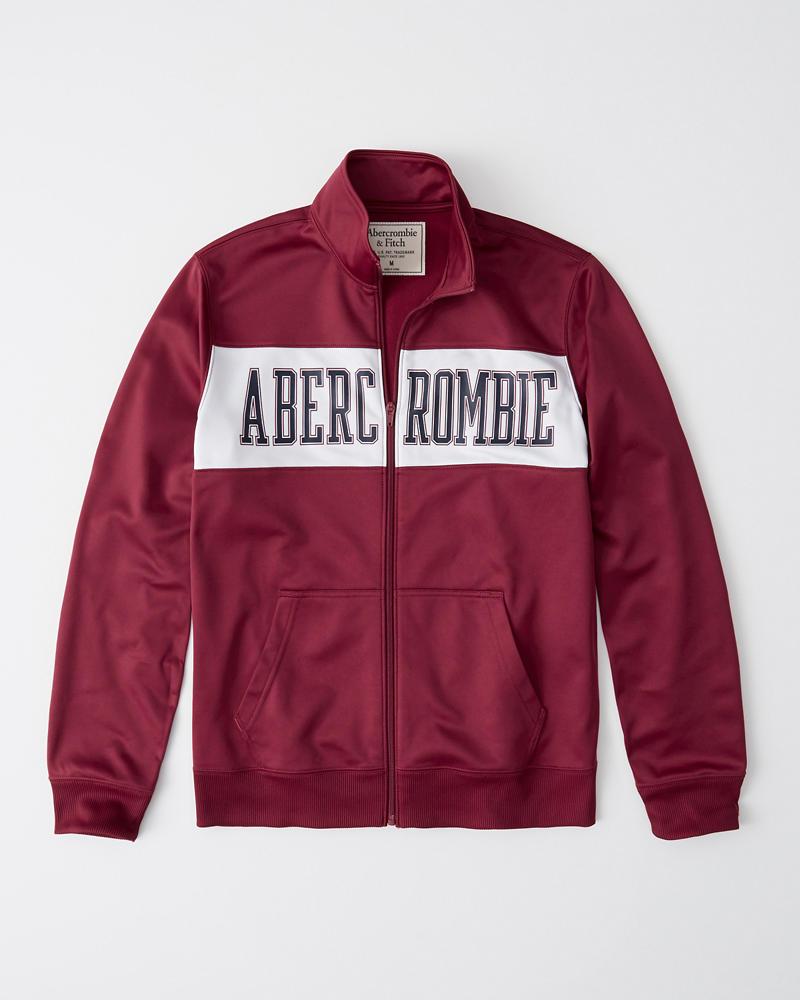 d05ca1603cf Mens Logo Track Jacket   Mens Tops   Abercrombie.com