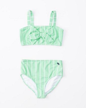 kidsbandeau high-waist two-piece swimsuit