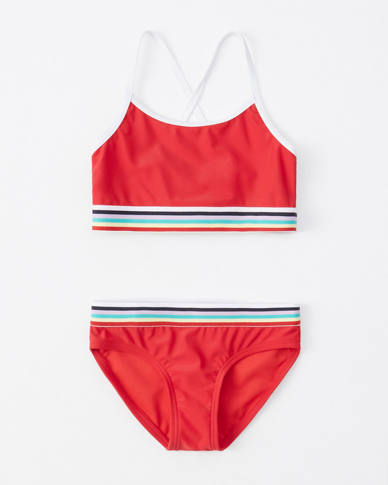9fc8f8929c703 girls rainbow two-piece swimsuit | girls swimsuits | Abercrombie.com