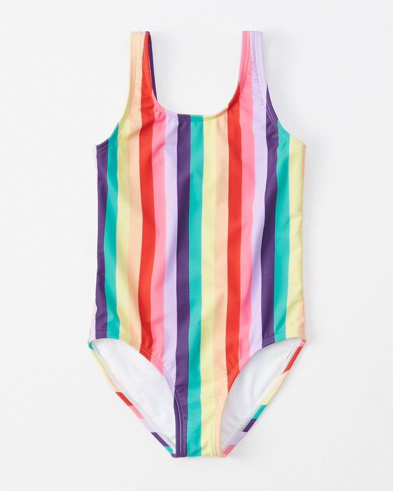 735e07165b girls rainbow scoop-back one-piece swimsuit | girls swimsuits ...