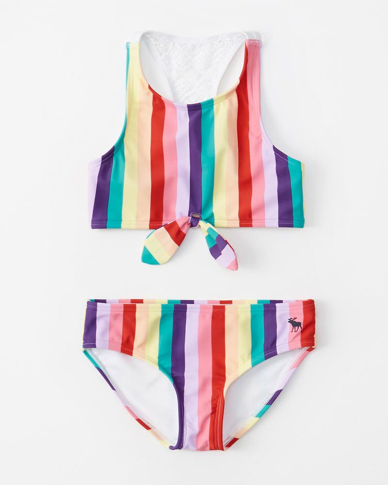 9ca299ea5f4f3 girls high-neck tie-front two-piece swimsuit | girls swimsuits ...
