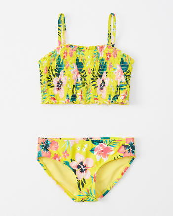 b9c4a34eb9dd8 girls smocked two-piece swimsuit | girls swimsuits | Abercrombie.com