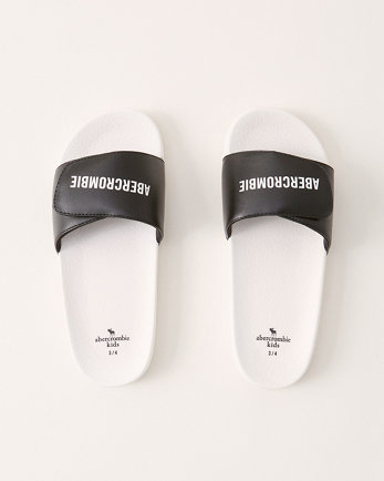 kidslogo slide sandals