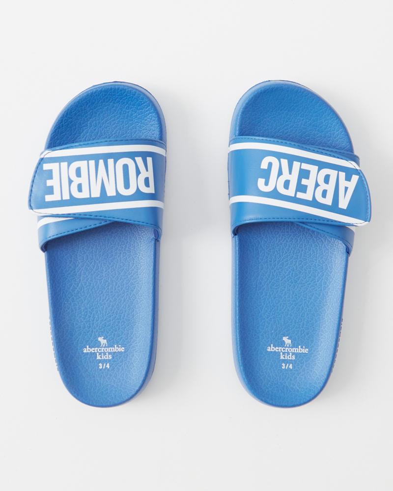 0f038a7a9 kids logo slide sandals