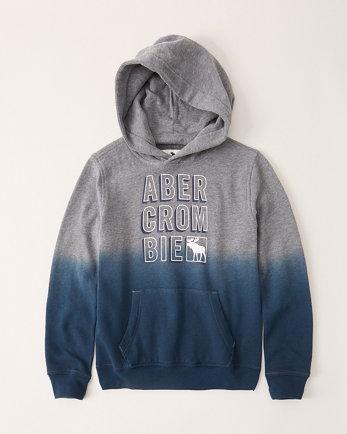 kidsombre print logo hoodie