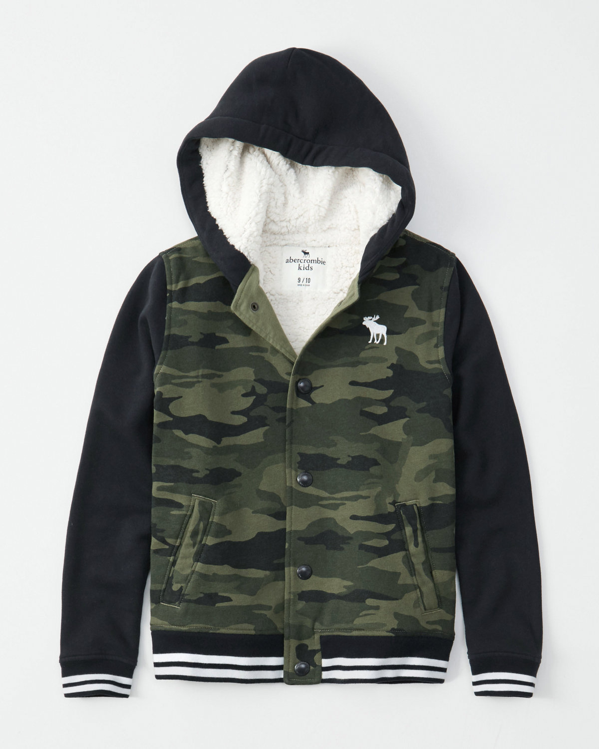 Hooded Varsity Jacket by Abercrombie & Fitch