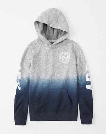 Hoodie mit Exploded-Logo, Grau meliert mit Farbverlauf aa43d8d0bb