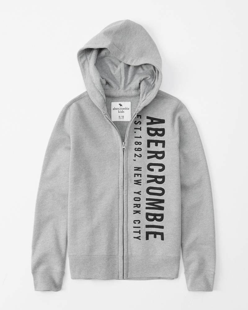 9bce5f05403 boys full-zip logo hoodie