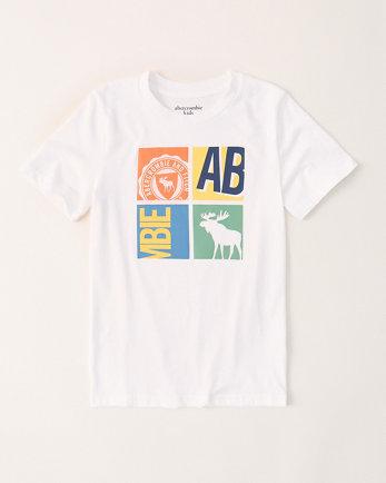 kidsbox print logo tee