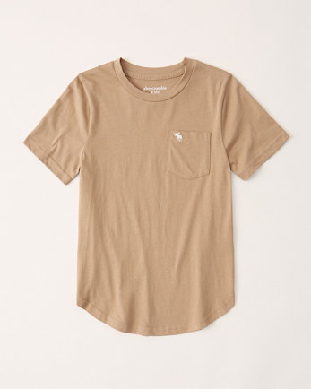 kidscurved hem pocket tee