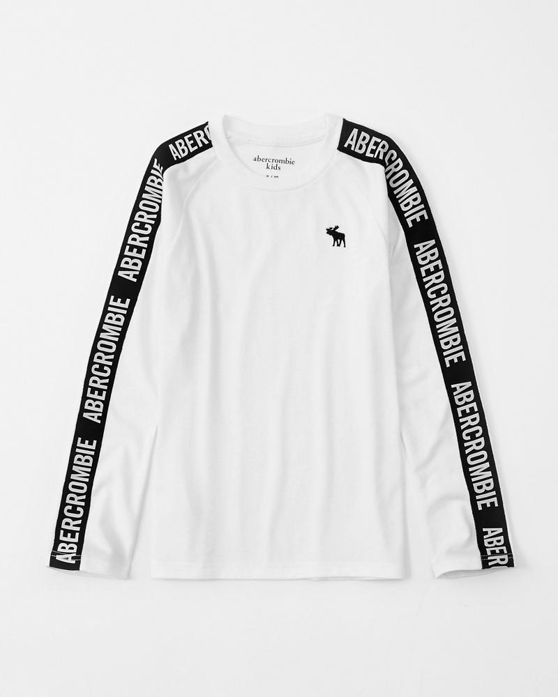 chicos camiseta de manga larga con cinta con el logo  c493ce93d59b0