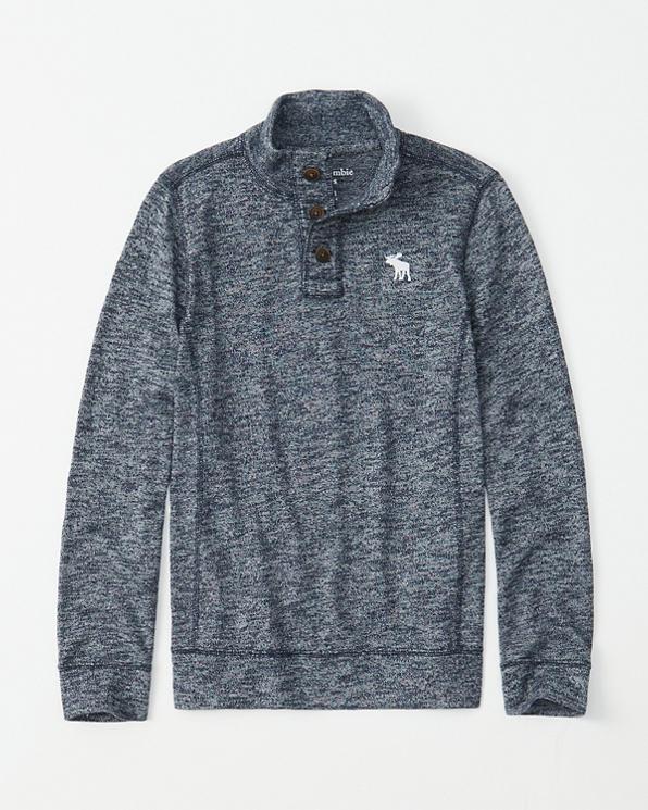 e8ce2575 boys sweater knit mock neck henley | boys sale | Abercrombie.com