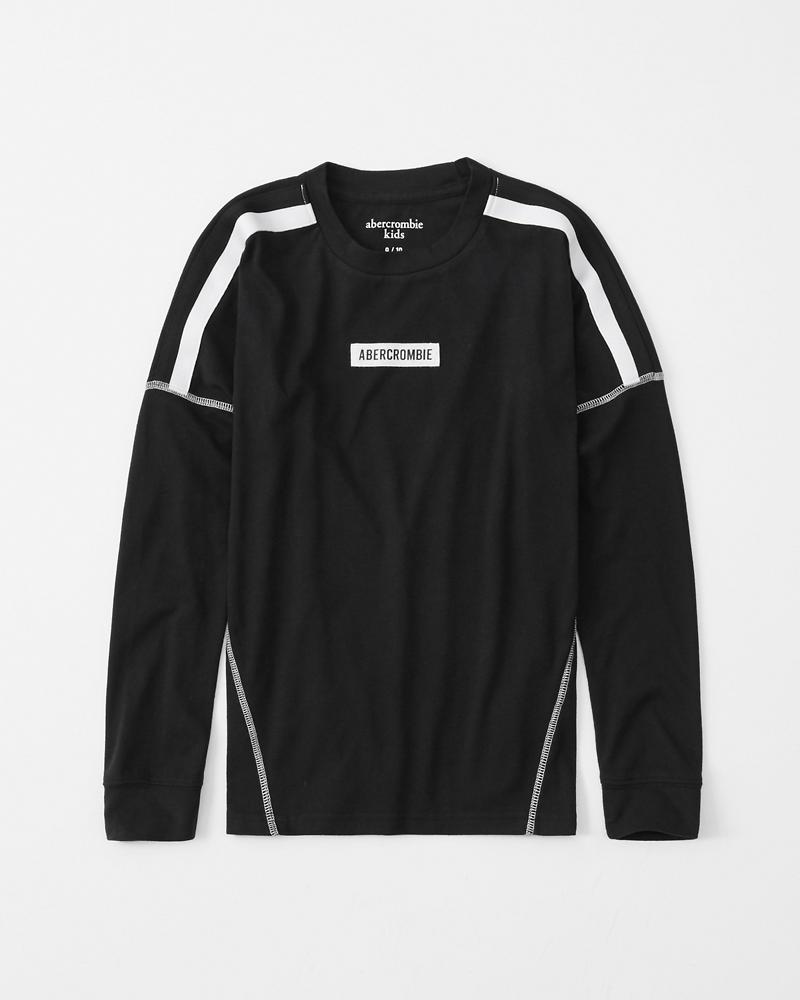 lace up in many styles in stock ragazzi maglietta sportiva a maniche lunghe con logo ...