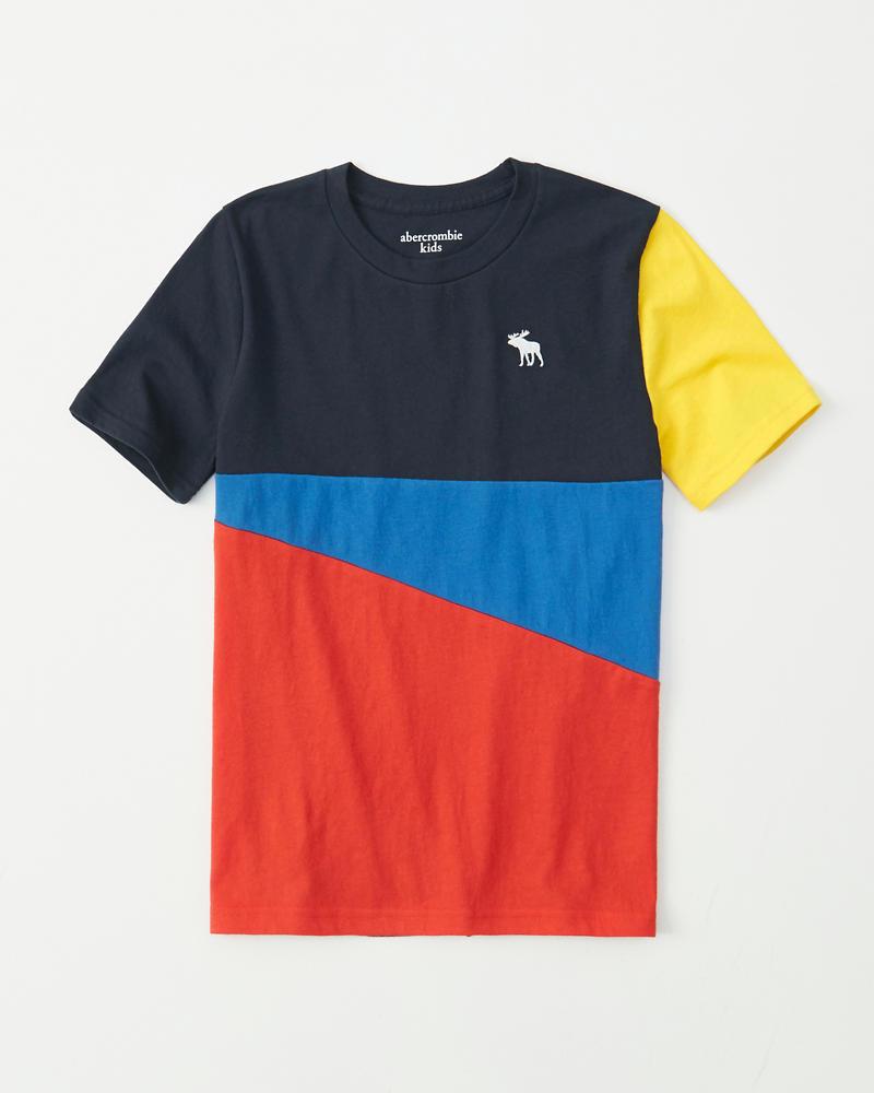 3fa93ca21 chicos camiseta con icono color block