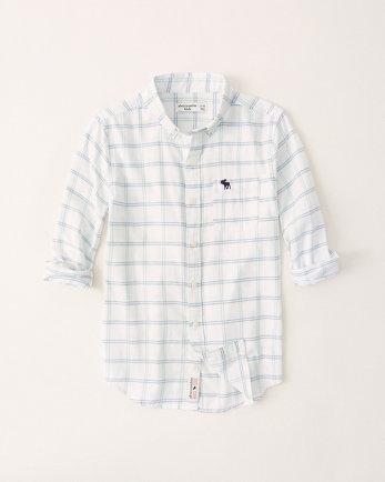 kidslong-sleeve button-up