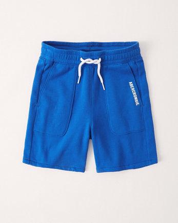 kidsfleece logo shorts