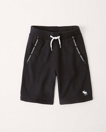 kidslogo tape fleece shorts