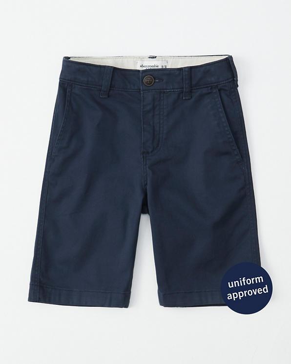 boys twill plainfront shorts | boys bottoms | Abercrombie co uk