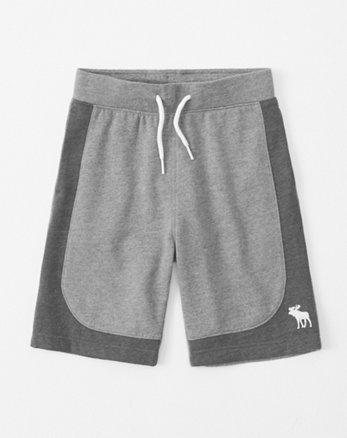 4966d2aaaa7798 colorblock fleece icon shorts, grey