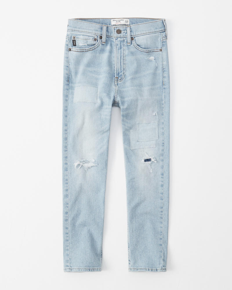 45dc8a4af378c ripped taper jeans | Abercrombie.co.jp