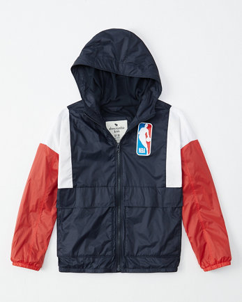 kidsnba colorblock windbreaker