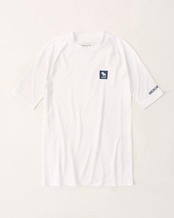 kidsshort-sleeve logo rash guard