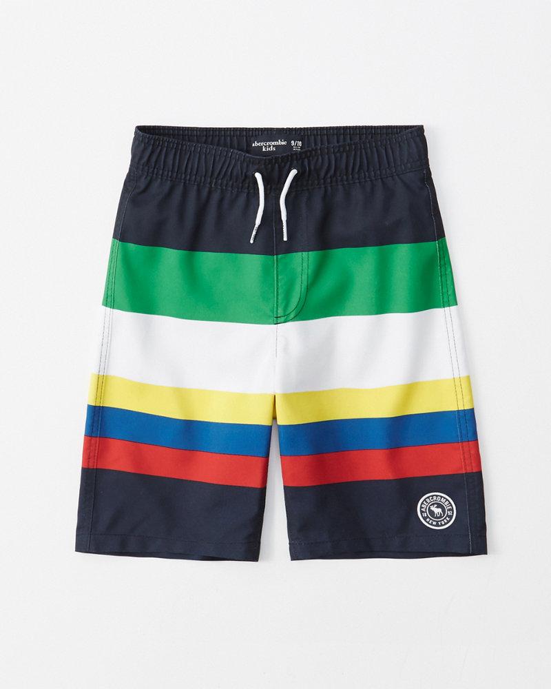 b550daf052 boys striped boardshorts | boys swimwear | Abercrombie.com
