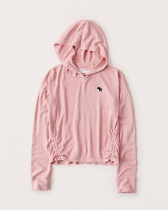 kidsside-ruched icon hoodie