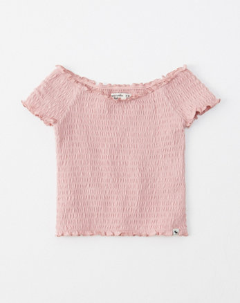 6e567cd97e426 girls shirts. New! smocked off-the-shoulder top, ...