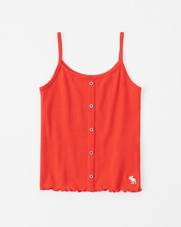 d58f2bd72aea girls icon button-front ribbed cami | girls clearance | Abercrombie.com