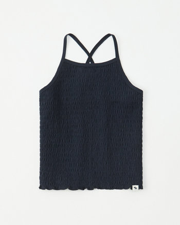 0d07b662d8970 smocked high-neck tank