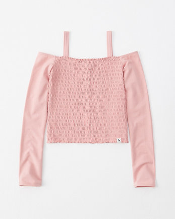 kidssmocked off-the-shoulder top