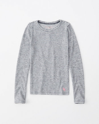 kidsribbed long-sleeve icon tee