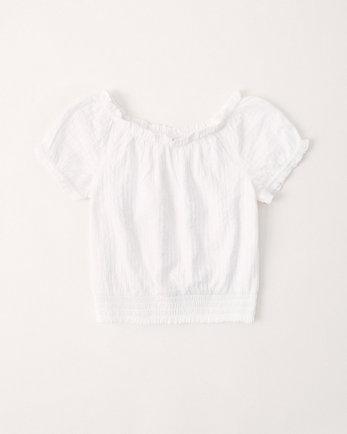 kidssmocked waist top
