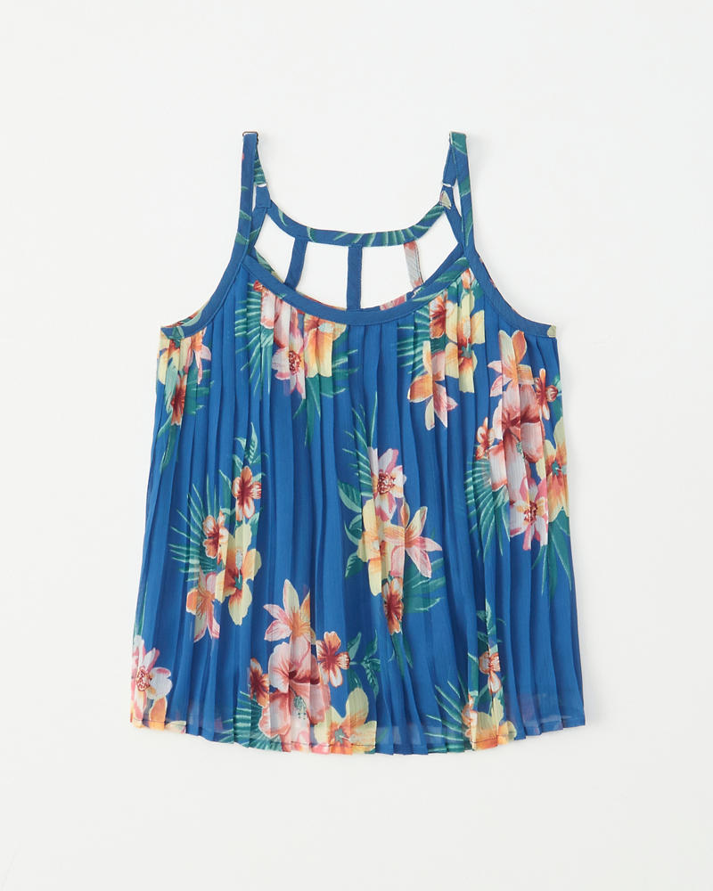 Pleated Pattern Cami by Abercrombie & Fitch