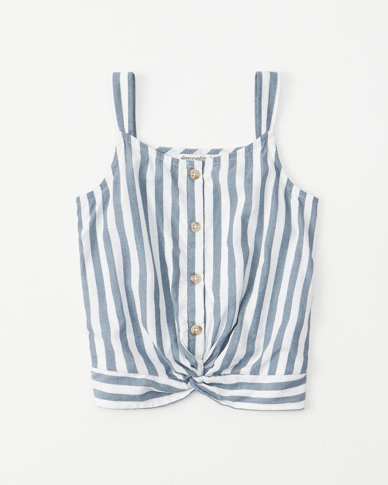 Twist Front Button Up Top by Abercrombie & Fitch