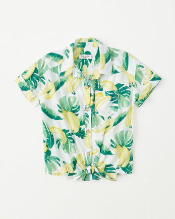 kidstie-front button-up shirt