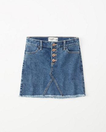 kidsmid rise denim skirt