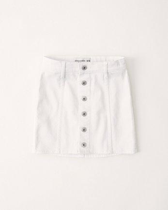 kidsWhite Denim Button-Up Skirt