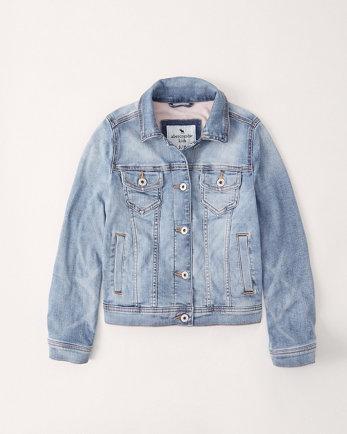 kidsfleece-lined denim jacket