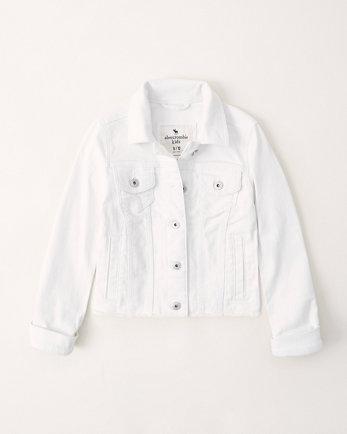 kidswhite denim jacket
