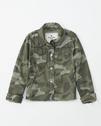 kidscropped camo jacket