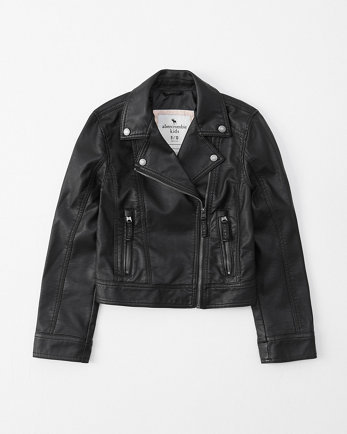 kidsfaux leather moto jacket