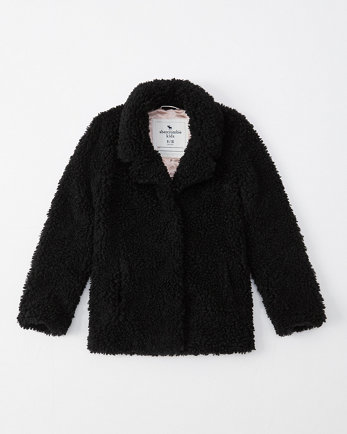 kidssherpa fleece teddy coat