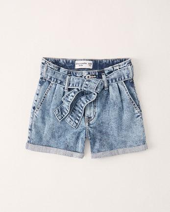 kidshigh rise paperbag waist shorts