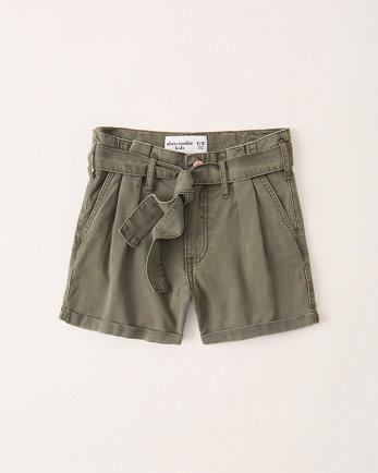 kidshigh rise papaerbag waist shorts