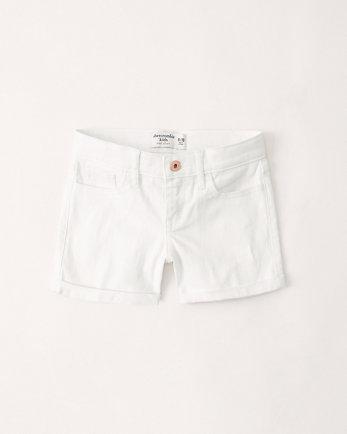 kidsmid rise midi shorts
