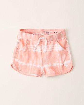 kidsmid rise fleece icon shorts